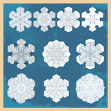 Snowflake winter set Royalty Free Stock Photography