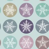 Snowflake winter set icon collection seamless Stock Photography