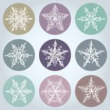 Snowflake winter set icon collection. Vector Royalty Free Stock Images