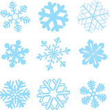 Snowflake winter set  illustration Royalty Free Stock Image