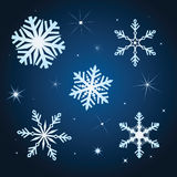 Snowflake winter set  illustration Royalty Free Stock Images