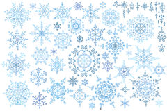 Snowflake winter set.Vector doodles Stock Images