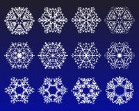 Snowflake winter set vector illustration Royalty Free Stock Photos