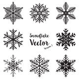Snowflake winter set vector Royalty Free Stock Photography