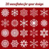 Snowflake winter set vector illustration Royalty Free Stock Image