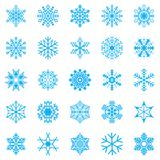 Snowflake winter set vector illustration Royalty Free Stock Images