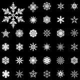 Snowflake winter set Vector Royalty Free Stock Photo