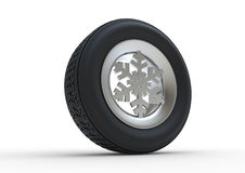 Snowflake Winter Tyre Royalty Free Stock Photography