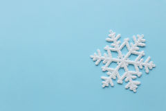 Snowflake. Winter. White snowflake in details royalty free stock image