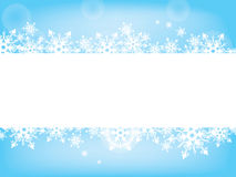 Snowflake wish card tender blue and white Royalty Free Stock Photos
