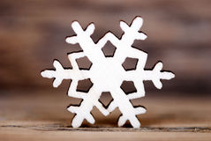 Snowflake on Wood III Stock Photo