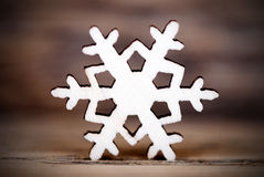 Snowflake on Wood IV Stock Photo