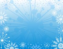 Snowflake Xmas Background 2 Royalty Free Stock Photo