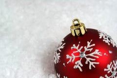 Snowflake Xmas Bauble Upclose Stock Photos