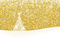 Snowflake Xmas tree background Royalty Free Stock Photo