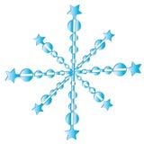 snowflakeetikett Arkivfoton