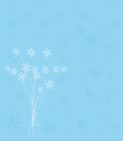 Snowflakejulkortdesign Royaltyfria Bilder