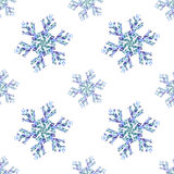 SnowflakePattern. Geometric seamless pattern with snowflakes Royalty Free Stock Photo