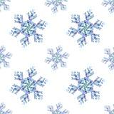 SnowflakePattern. Geometric seamless pattern with snowflakes Stock Photos