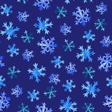 Snowflakes άνευ ραφής σχέδιο ελεύθερη απεικόνιση δικαιώματος