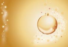 snowflakes έλατου σφαιρών goldish δέντρο Στοκ Εικόνες