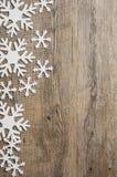 Snowflakes έμβλημα Στοκ εικόνα με δικαίωμα ελεύθερης χρήσης