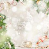 snowflakes έλατου Χριστουγέννων ανασκόπησης μπλε σκοτεινό darkly δέντρο 10 eps Στοκ φωτογραφία με δικαίωμα ελεύθερης χρήσης
