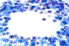 snowflakes ανασκόπησης Στοκ Εικόνες