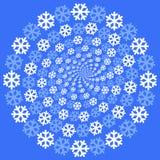 snowflakes ανασκόπησης Στοκ Φωτογραφία