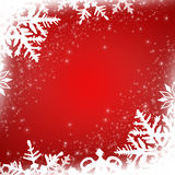 snowflakes απεικόνισης ανασκόπησης κόκκινο διάνυσμα Στοκ εικόνα με δικαίωμα ελεύθερης χρήσης
