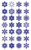 snowflakes απεικόνισης στοιχείων σχεδίου συλλογής διάνυσμα ελεύθερη απεικόνιση δικαιώματος