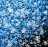 snowflakes απεικόνισης Χριστουγέννων ανασκόπησης μπλε διάνυσμα διανυσματική απεικόνιση
