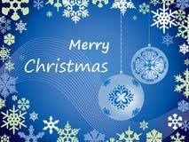 snowflakes απεικόνισης Χριστουγέννων καρτών διάνυσμα Στοκ φωτογραφία με δικαίωμα ελεύθερης χρήσης