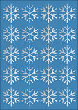 Snowflakes αφίσα Στοκ Εικόνες