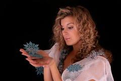 snowflakes γυναίκα Στοκ Εικόνα