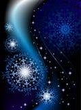 snowflakes διάστημα Στοκ εικόνες με δικαίωμα ελεύθερης χρήσης