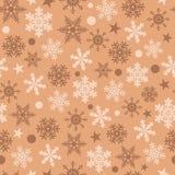 Διανυσματικό snowflakes άνευ ραφής υπόβαθρο απεικόνιση αποθεμάτων