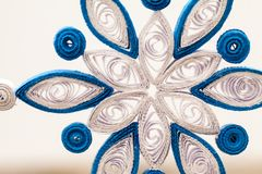 Snowflakes εγγράφου που γίνονται με η τεχνική Στοκ φωτογραφία με δικαίωμα ελεύθερης χρήσης