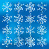 Snowflakes εικονίδια διανυσμάτων Στοκ Εικόνες