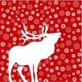 snowflakes ελαφιών Στοκ Φωτογραφίες