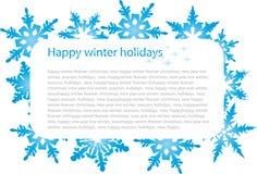 snowflakes εμβλημάτων στοκ φωτογραφία με δικαίωμα ελεύθερης χρήσης