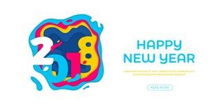 2018 snowflakes ευχετήριων καρτών καλής χρονιάς διανυσματική γλυπτική κειμένων εγγράφου υποβάθρου εμβλημάτων απεικόνιση αποθεμάτων