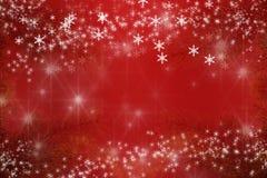 Snowflakes και αστέρια υποβάθρου Χαρούμενα Χριστούγεννας Στοκ Φωτογραφίες