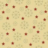 Snowflakes και αστεριών σχέδιο Στοκ φωτογραφία με δικαίωμα ελεύθερης χρήσης