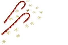 snowflakes καλάμων καραμελών Στοκ Εικόνες
