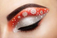 Snowflakes κοριτσιών ματιών makeover Στοκ φωτογραφία με δικαίωμα ελεύθερης χρήσης