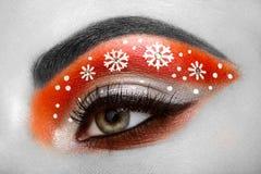 Snowflakes κοριτσιών ματιών makeover Στοκ Εικόνα