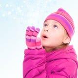 snowflakes κοριτσιών Στοκ Εικόνες