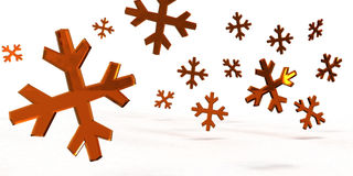 snowflakes κρυστάλλου Στοκ Φωτογραφία