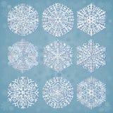 snowflakes λευκό Στοκ Εικόνα